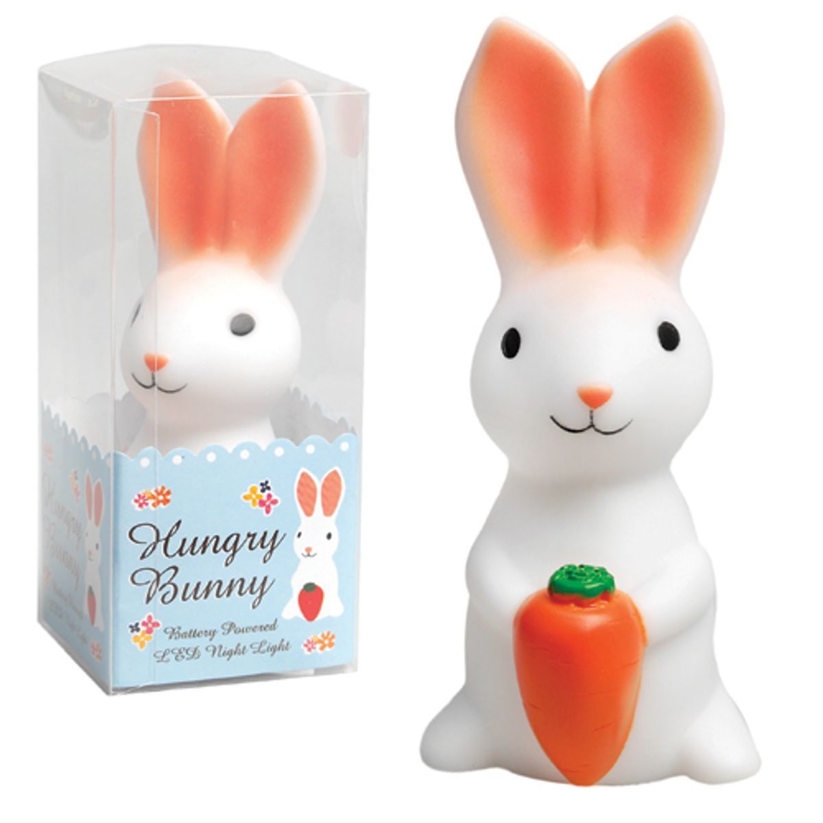 Veilleuse en plastique forme lapin Hungry Bunny