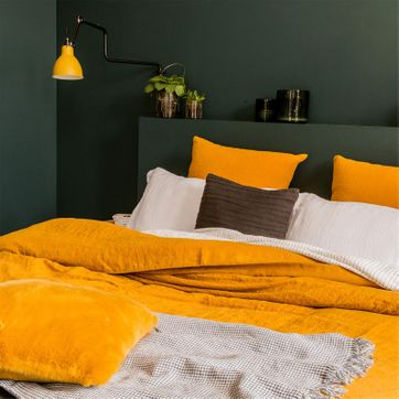 jaune moutarde en d coration ou meuble decoclico. Black Bedroom Furniture Sets. Home Design Ideas