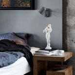 Applique murale en métal gris anthracite Buddy Northern
