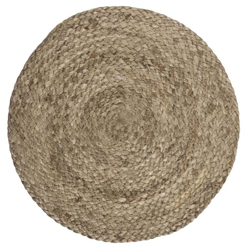 Set de table rond en jute tressé naturel IB Laursen