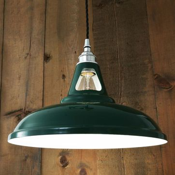 Suspension en acier et laiton vert Vienna Mullan Lighting