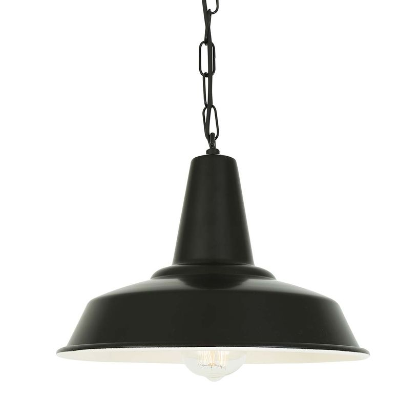 Suspension en aluminium noir Hex Mullan Lighting