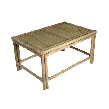 Table basse en bambou naturel