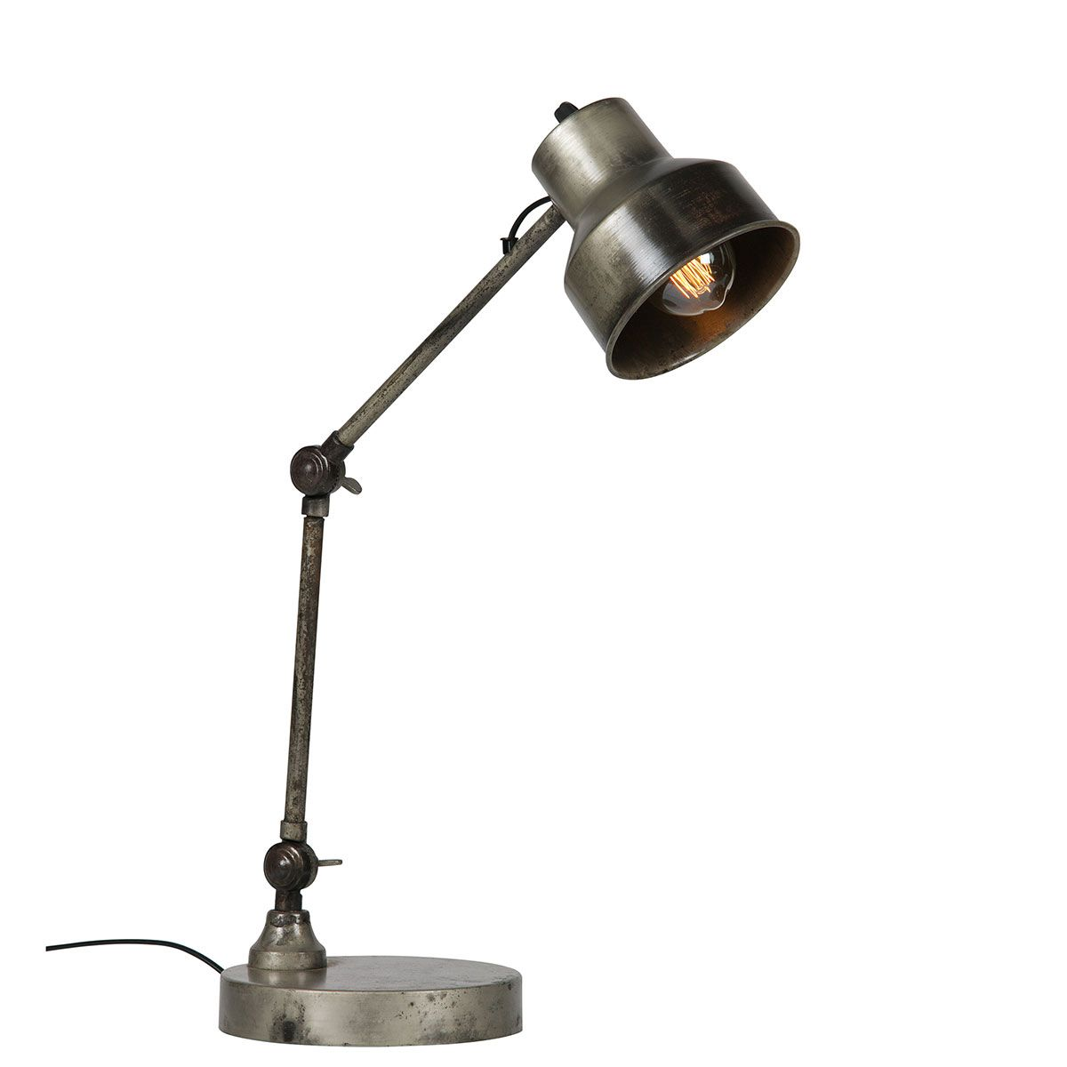 Lampe de bureau en métal antique Hector Made By Woood