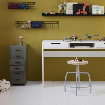 Bureau junior en pin massif FSC blanc Elon Made by Woood