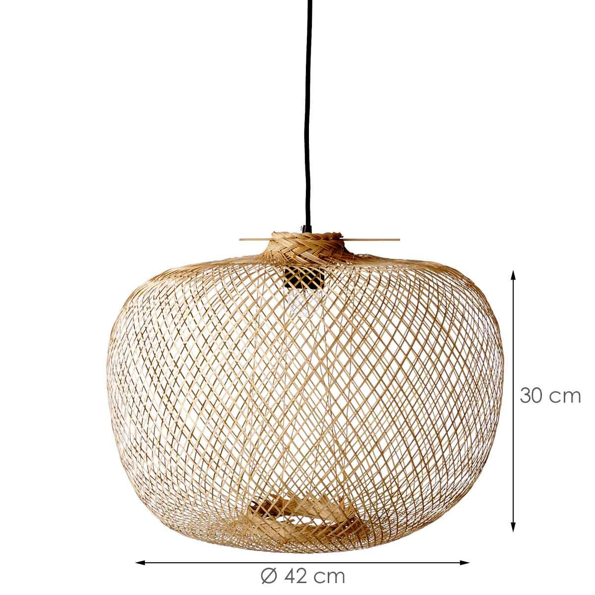 Suspension ronde en bambou naturel Bloomingville