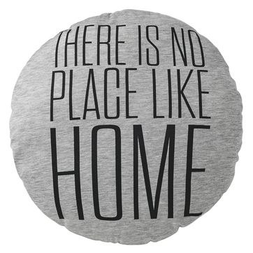 Coussin rond en coton There Is No Place Like Home Bloomingville