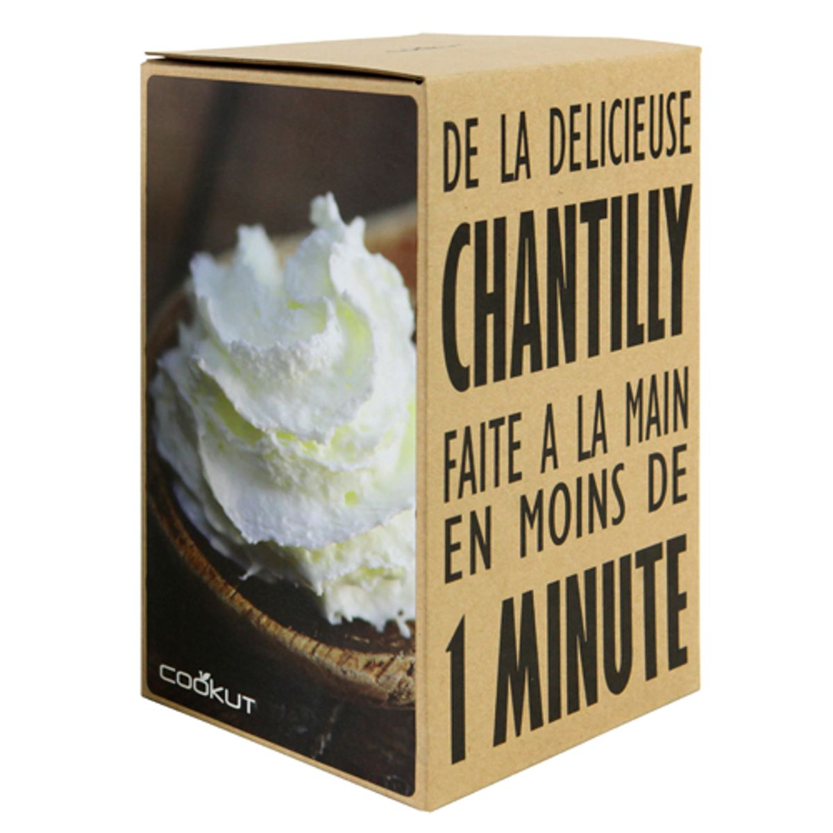 Shaker à Chantilly écologique en verre Homemade Creazy Cookut