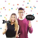 Photo booth bulles ardoises Doiy