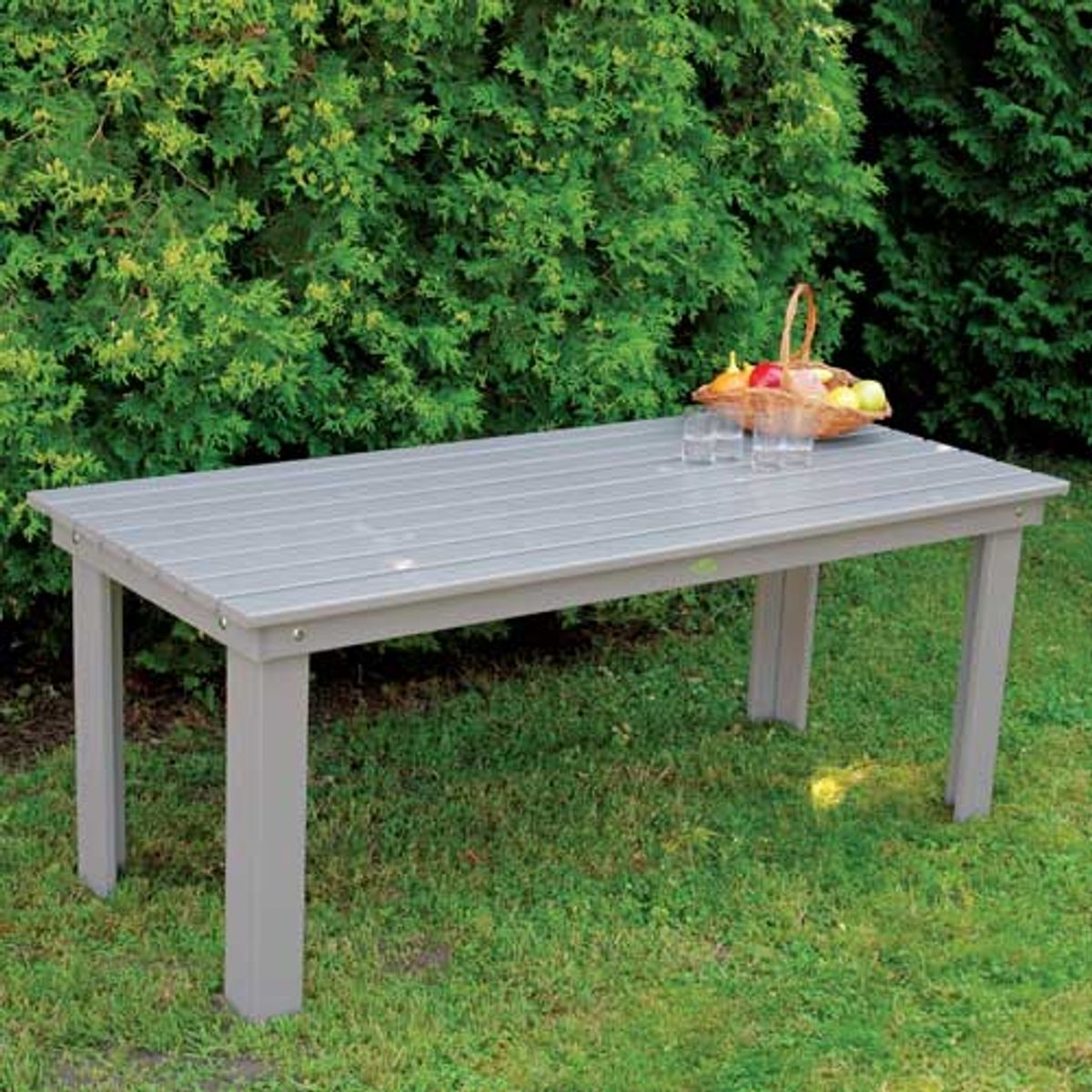 Table de jardin rectangulaire en bois de pin gris Farm Folklore