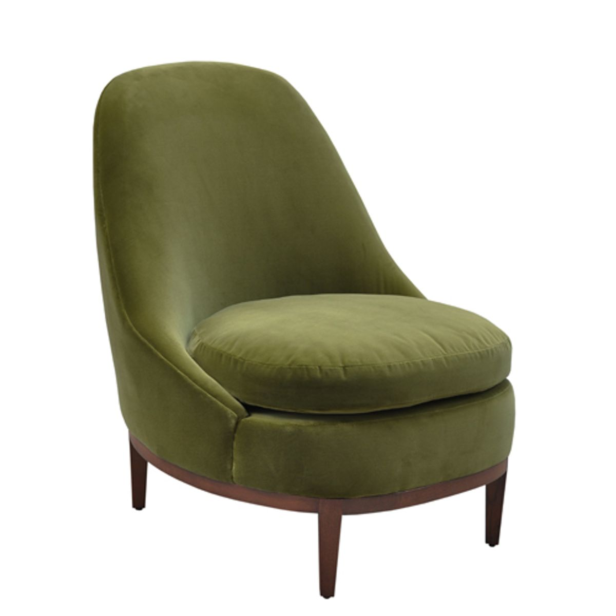 fauteuil en velours de coton bourbon vert empire decoclico. Black Bedroom Furniture Sets. Home Design Ideas