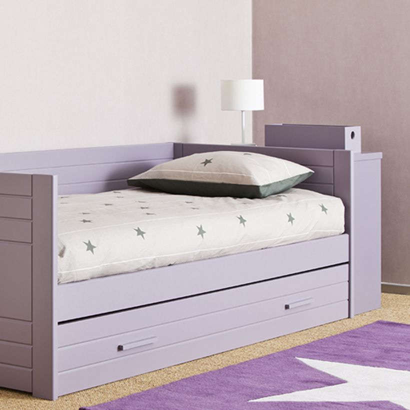 housse de couette enfant en coton motif etoiles lorena canals bleu rose ou taup decoclico. Black Bedroom Furniture Sets. Home Design Ideas