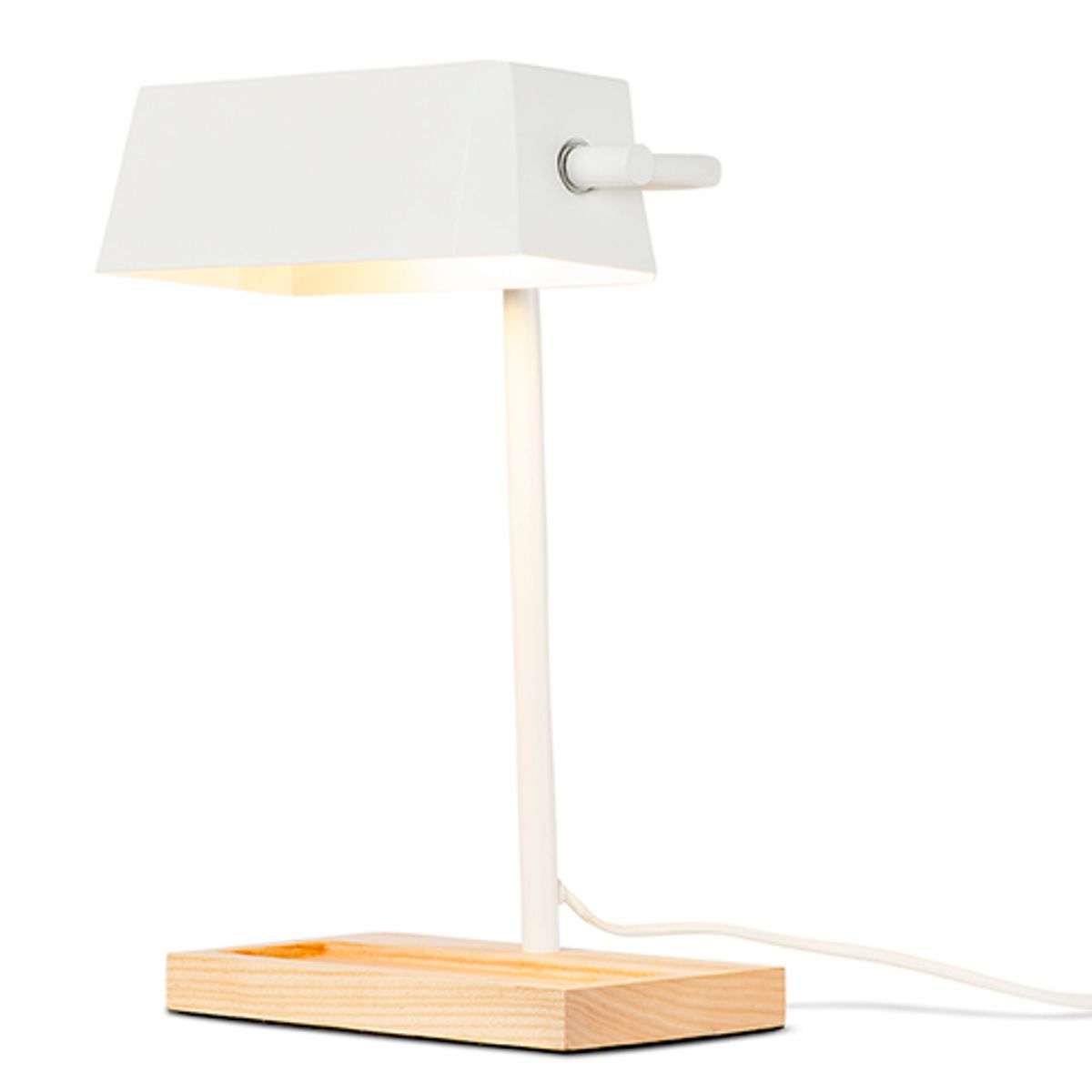 Lampe en acier et bois Cambridge It´s about Romi - Blanc