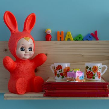 Lampe / veilleuse Bunny en vinyle Goodnight Light - Rouge