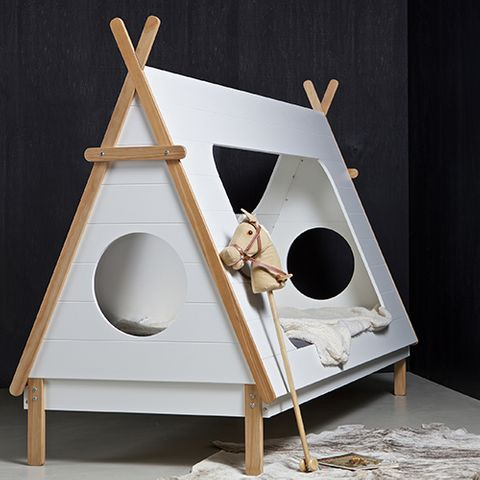 biblioth que 5 tag res en pin naturel et blanc tipi. Black Bedroom Furniture Sets. Home Design Ideas