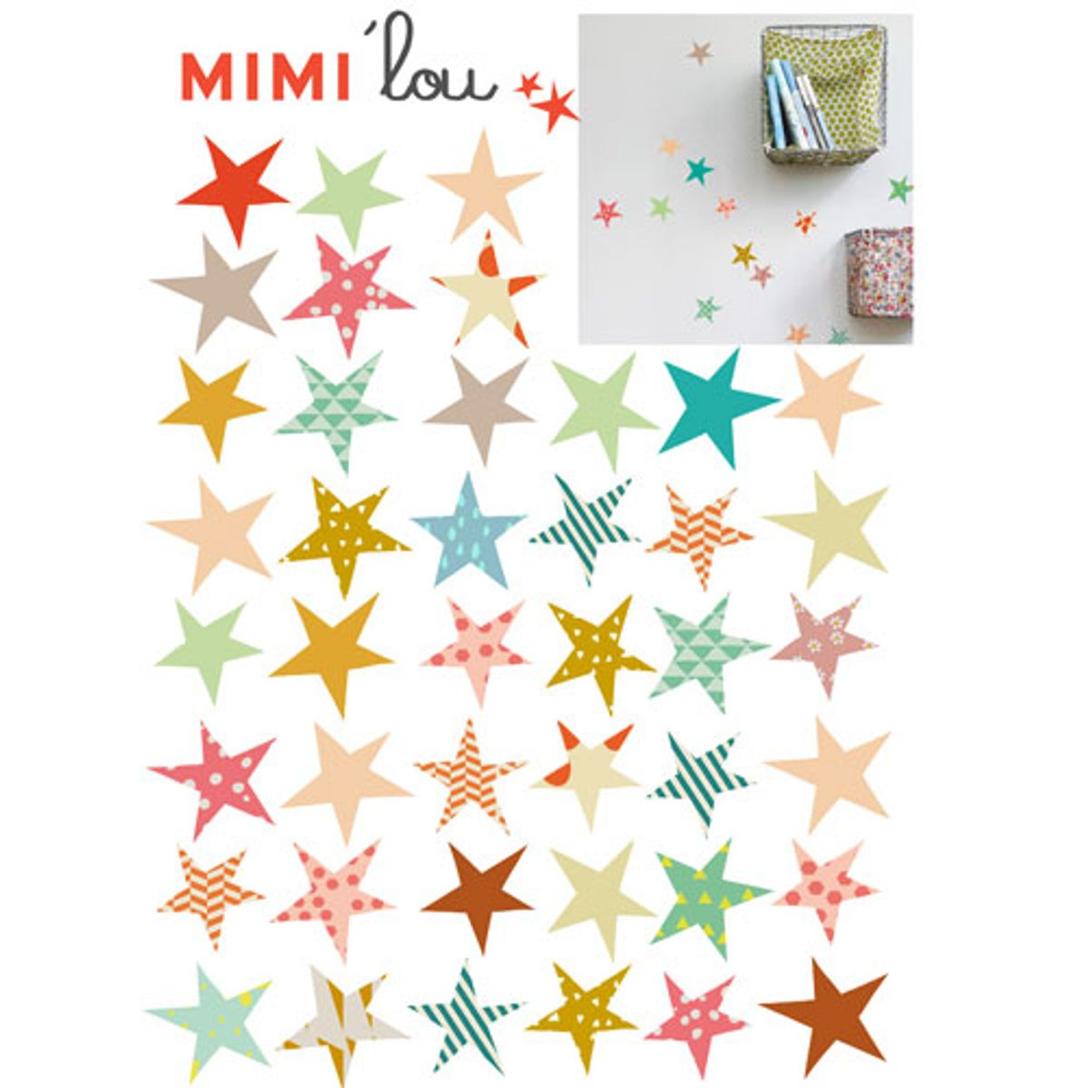 Stickers autocollants Etoiles collection Just a Touch Mimi Lou