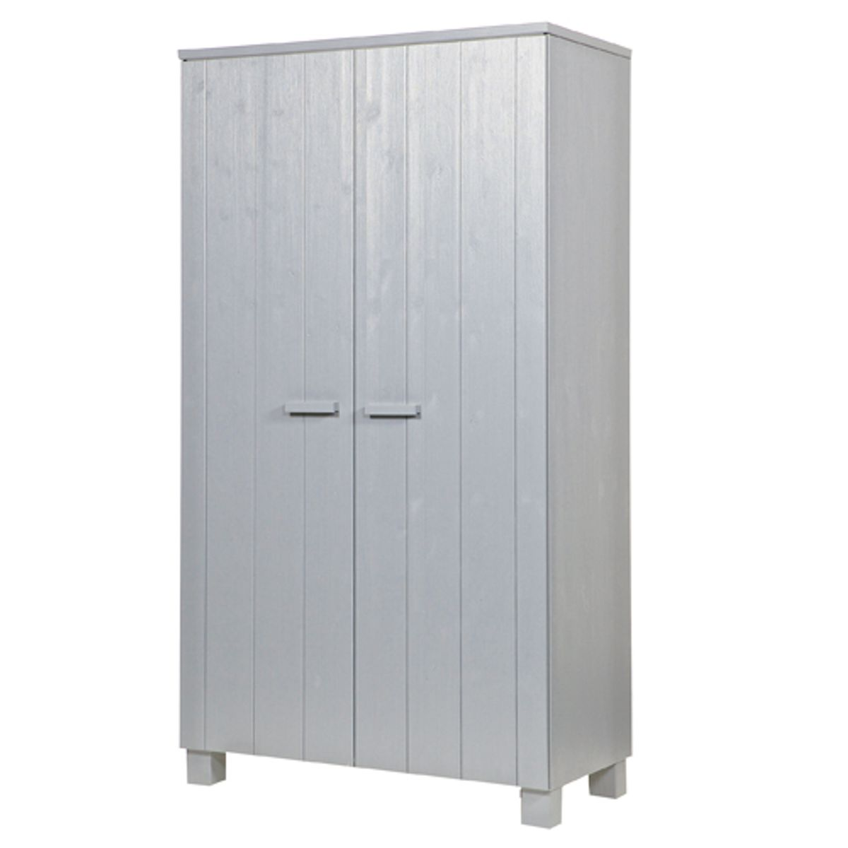 Armoire penderie en pin massif 2 portes 4 tag res dennis for Armoire en pin massif