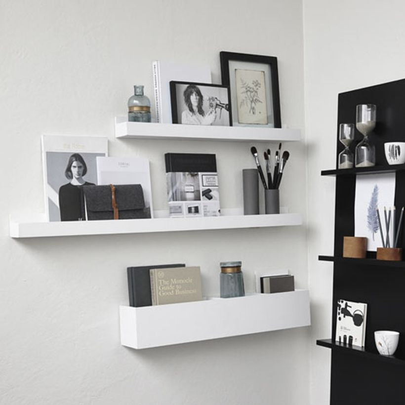 porte courrier porte photo mural en bois h bsch blanc. Black Bedroom Furniture Sets. Home Design Ideas