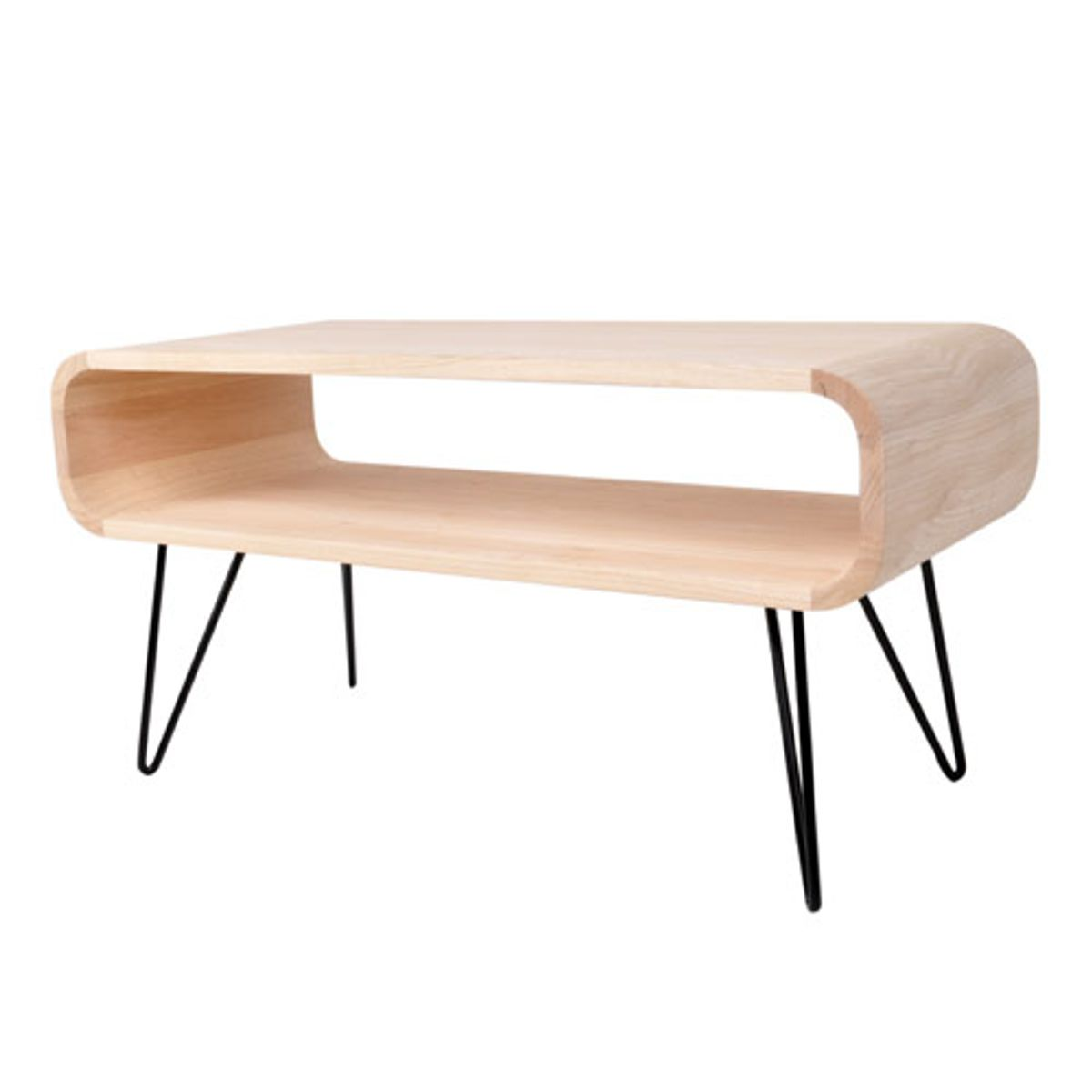 table basse rectangulaire en bois et m tal noir m tro xl boom decoclico. Black Bedroom Furniture Sets. Home Design Ideas